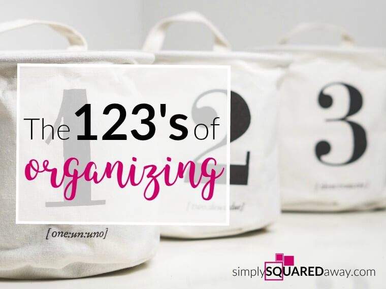 Learn the 123's to organizing just about anything in your life.