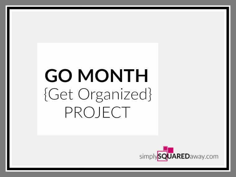 This month, here in Kansas City, a group of local professional organizers worked on a GO Month project together to organize for a cause.