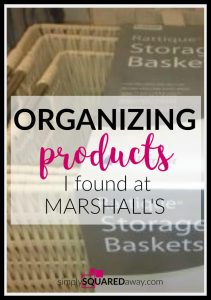Good organizing products that are inexpensive are hard to find. I found 4 of my favorites at Marshalls the other day and some were on clearance.