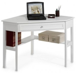 Use a corner desk in your garage for storage? Yes! Find out more glam garage storage ideas.