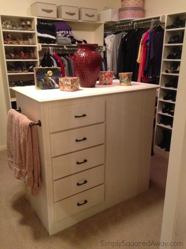 The ULTIMATE closet organizing makeover EVER after picture from Simply Squared Away!