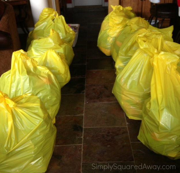 The donate pile was BIG in our ULTIMATE closet organizing makeover.