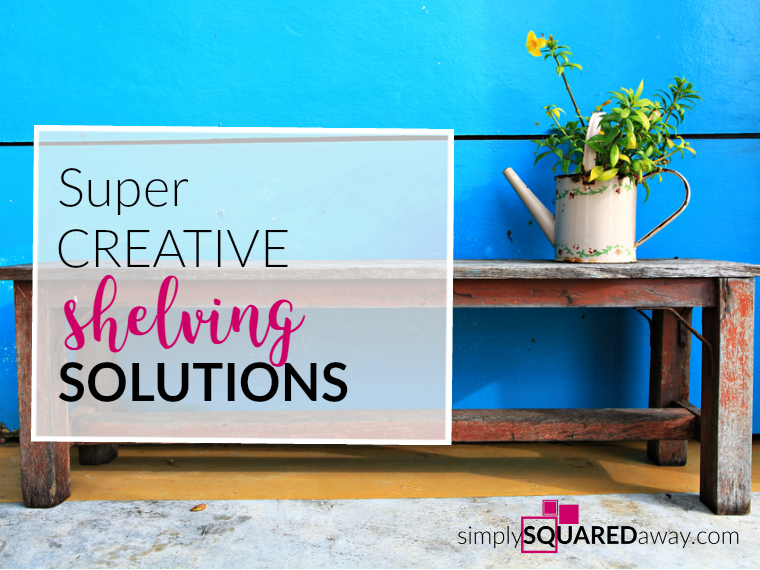We are sharing some super creative shelving solutions to make your organizing functional and fun!