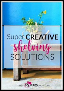 We are sharing some creative DIY shelving options to make your organizing functional and fun!