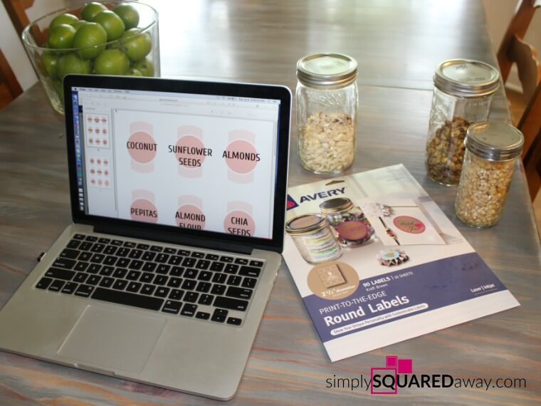 Organize your health foods using jars and cute labels.