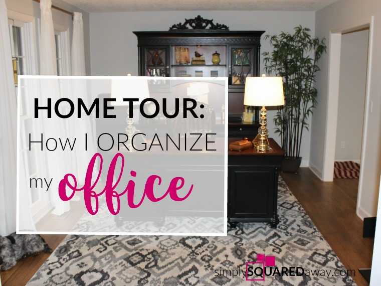 On my home tour I'll show you how I organize my office. You get an inside look into all the cabinets and drawers and see how I organize my electronics, office supplies, greeting cards, files and more.