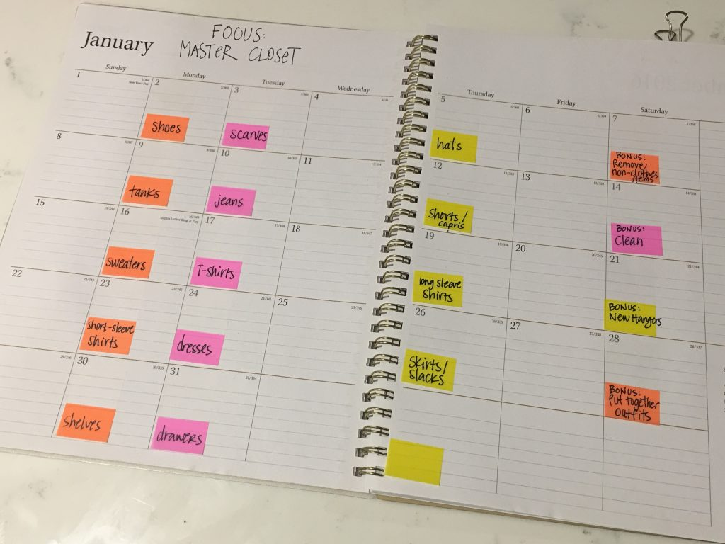 Organize your home by breaking down tasks and assigning them to days on your calendar. I'm sharing 5 additional tips on how to organize your home when you don't know where to start.