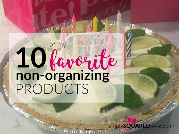 I share 10 of my favorite non-organizing products - products around food, laundry, beauty, books, etc.