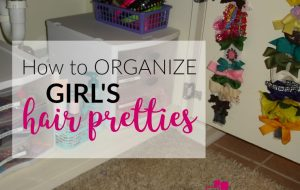 Learn how to organize girl's hair bows and hair accessories.