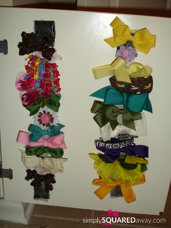Learn how to organize girl's hair bows and accessories, otherwise known as hair pretties.