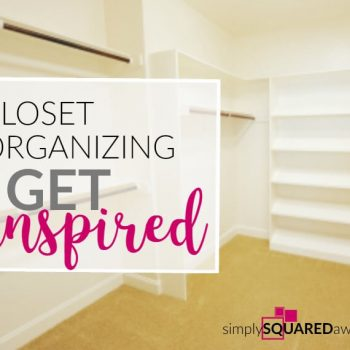 Is your closet a mess and it's just overwhelming? Get inspiration to organize your closet.