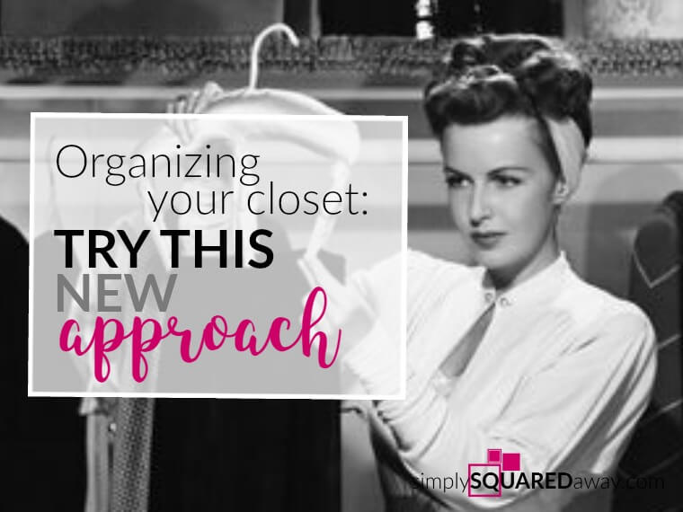 Organizing your closet by color may actually help you get your closet organized. Simply taking one color out at a time allows you to do a little at a time.