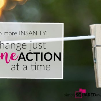 If you want to feel confident, peaceful, free, be more productive, and have a home that looks and feels good you have to commit to changing one action at a time - breaking free from your personal insanity.