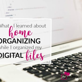 All files, whether digital computer or physical paper, should be organized JUST like any organizing project. The first step is to SORT.