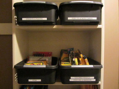 Supply Closet Black Bins