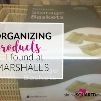 Marshall's is a GREAT place to shop when you are in need of organizing products! Here are a few of my favorite products that I found today.
