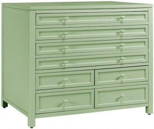Use a dresser in your garage? Yes, classy garage storage! Simply Squared Away