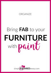 Use paint to transform old furniture that is still practical but outdated.