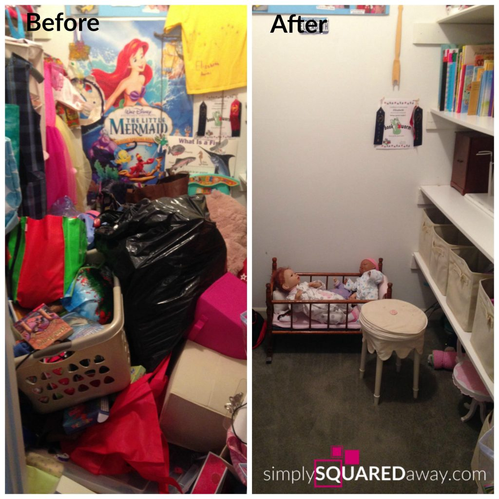 This is the ultimate girls bedroom organizing makeover. Teach your children early how to keep organized.