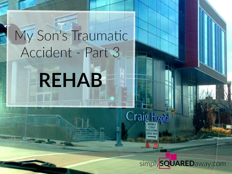 Rehabilitation is hard work. My son was in a traumatic car accident and it taught me a lot about REHAB.