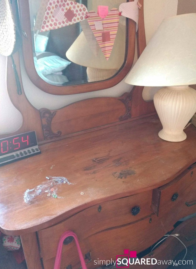 Learn the exact steps to organize the top of your dresser, or any other area.