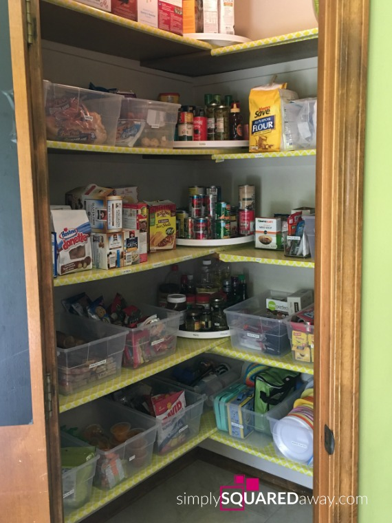 Organize your pantry using my two favorite organizing products.