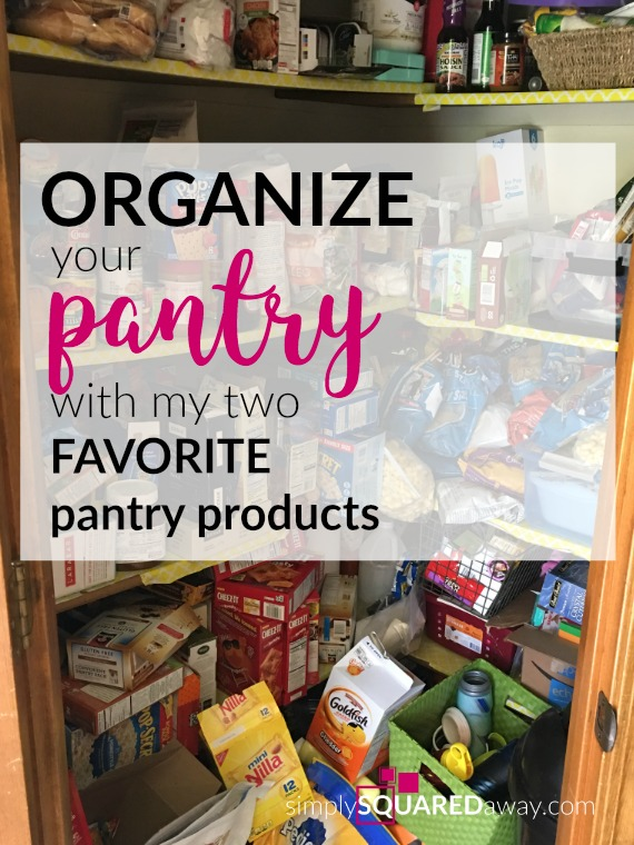 Organize your pantry with my two favorite organizing products. This is the pantry before the makeover.