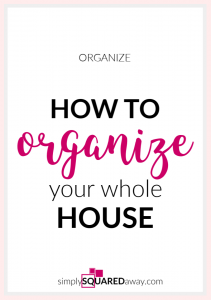 Want to learn how to organize your whole house? I'll show you how.