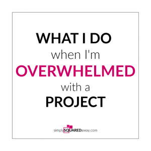 This is what I do when I'm completely overwhelmed by a project. Try it!