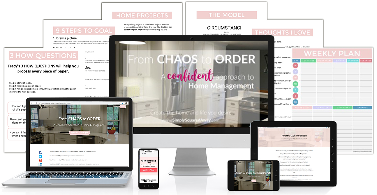 Get organized once and for all by joining the course From Chaos to Order now!