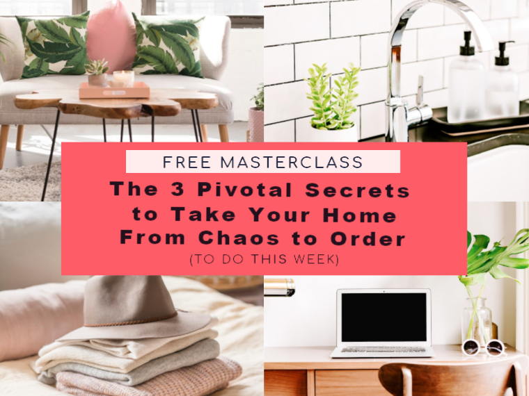 Get organized once and for all! Take your home from chaos to order by learning these three pivotal secrets.