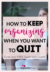 How do you keep organizing when you all you want to do is quit?