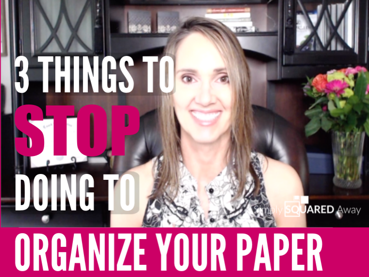 In this video I explain the three things you can STOP doing today to organize your paper.
