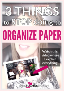 If you are ready to organize your paper, watch this video where I teach you three things to STOP doing today. After the video, join me in my FREE masterclass where I give you the 3 pivotal secrets to take your home from Chaos to ORDER!
