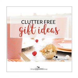 Get some clutter free gift ideas the this holiday season.
