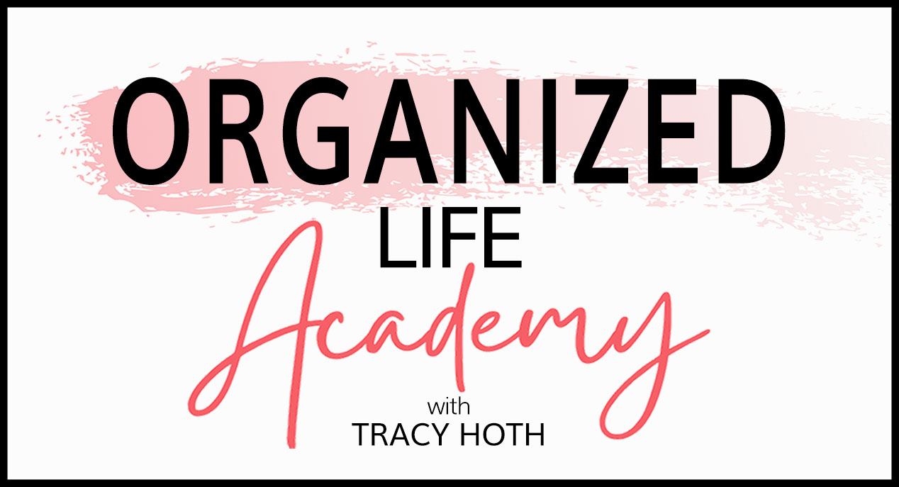 Get organized once and for all! Join Organized Life Academy where you will become an organized person who creates and organized life!
